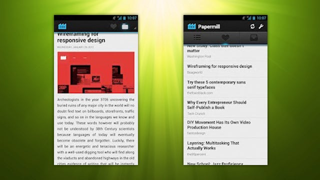 Papermill Is a Simple, Elegant Instapaper Client for Android