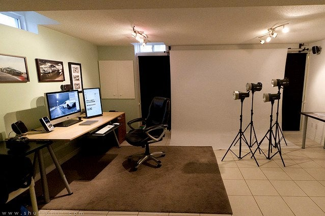 Well-Lit and Spacious: An Unusual Basement Workspace