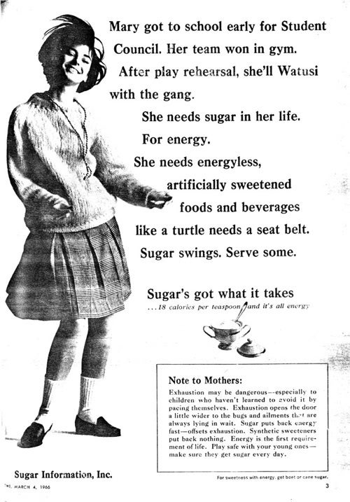 """""""Play Safe With Your Young Ones—Make Sure They Get Sugar Every Day."""""""