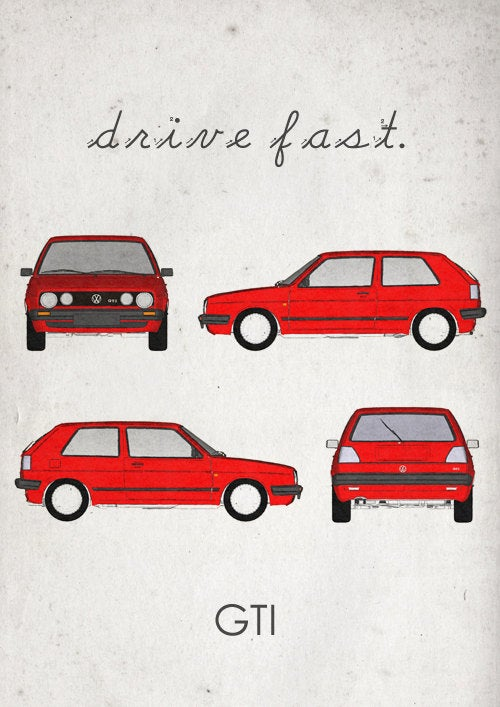Class Up Your House With These Tasteful Vintage Car Prints