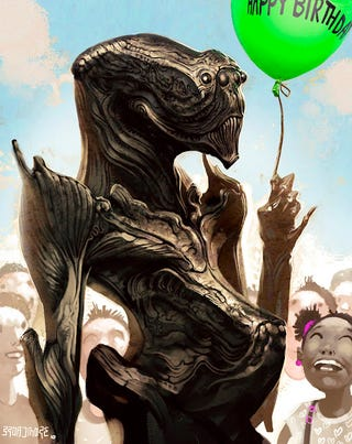Concept Art Writing Prompt: The Alien Who Came to the Birthday Party