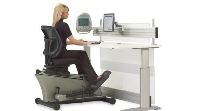 The Elliptical Machine Office Desk: Out, Work Workout!