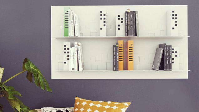A Skyscraper Shelf Turns Your Books Into a Picturesque Skyline