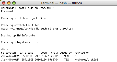 Schedule maintenance tasks in the Terminal