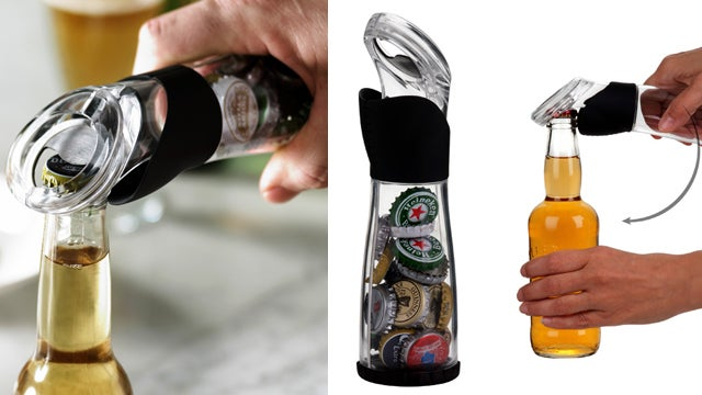 A Bottle Opener That Ingeniously Stores Bottle Caps Too