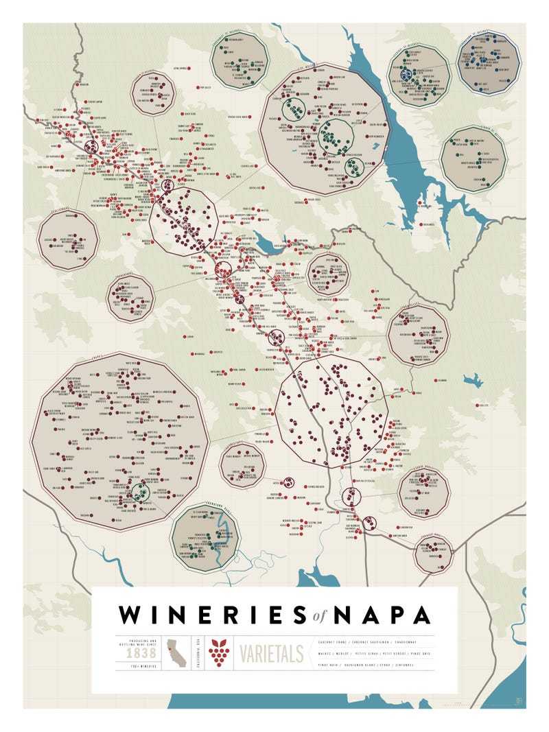 Over 1,200 California Wineries On Two Beautiful Maps