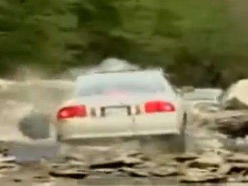 VIDEO: Tennessee Man Attempts Rock Slide Ramp, Fails