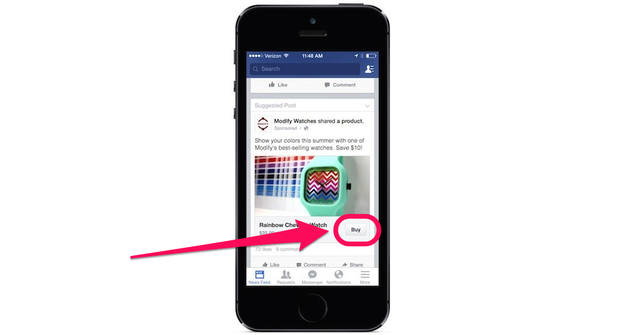 Facebook Now Lets You Buy Things Straight From Your News Feed
