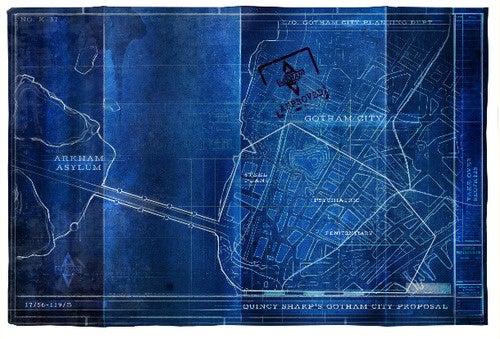 Hidden blueprints show the plans for Arkham City