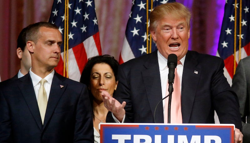 Donald Trump's Spokeswoman Tore His Campaign Manager a New One on the Street Last Night