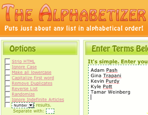 Quickly Sort Any List with the Alphabetizer