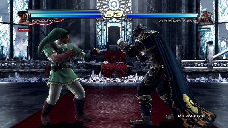 Dress Heihachi Up as Mario, Kazuya as Link in the Wii U Version of Tekken Tag Tournament 2