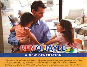 Is Dan Quayle's Son Pretending to Have Kids?