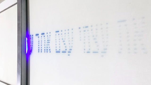 This LED Printer Creates Fleeting Messages on Photosensitive Paper