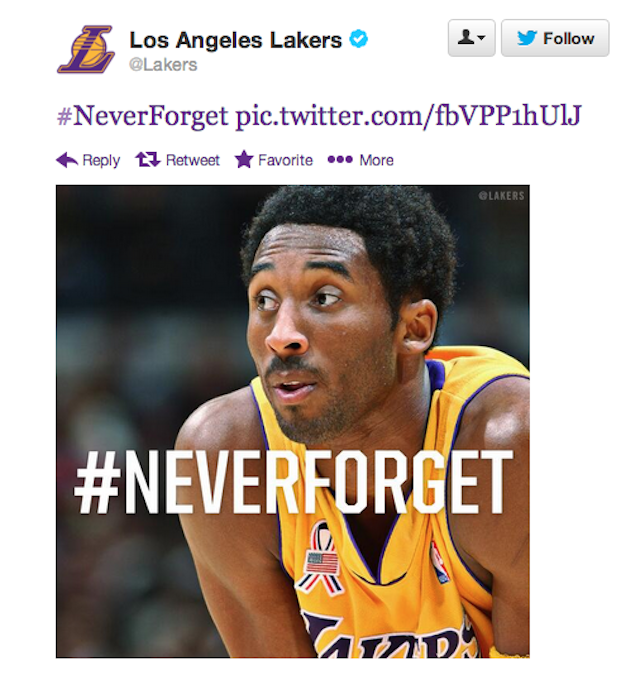 The Lakers Picked An Odd Way To Commemorate 9/11