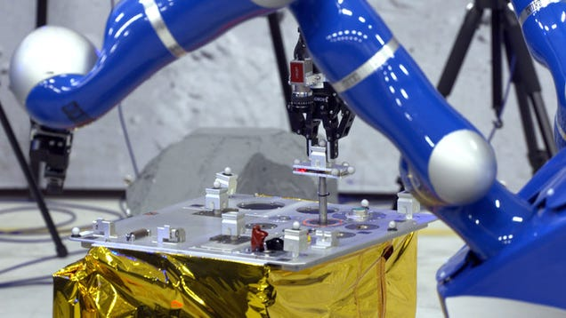 Watch an Astronaut In Orbit Control a Robot On Earth Using Haptic Feedback