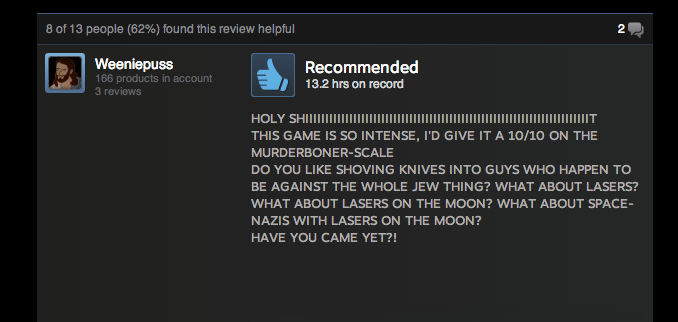 Wolfenstein, As Told By Steam Reviews