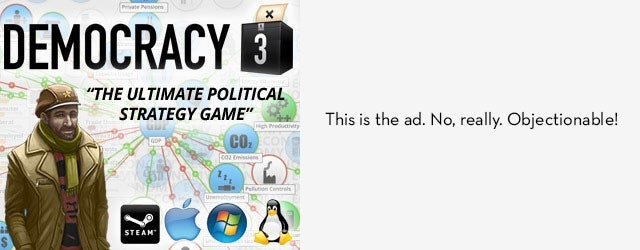 "Game Ad Blocked On ""Major US Games Site"" Because It Was ""Political"""
