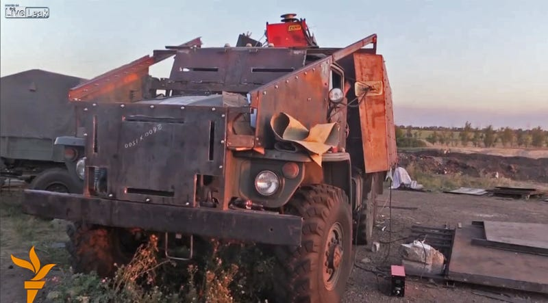 Ukrainian Soldiers Build An Improvised Armored Truck A-Team Style