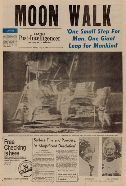 When We Walked on the Moon, and When Newspapers Mattered