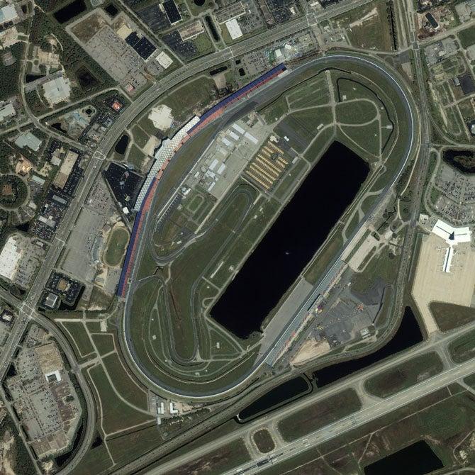 Ten Great Racetracks As Seen From Space