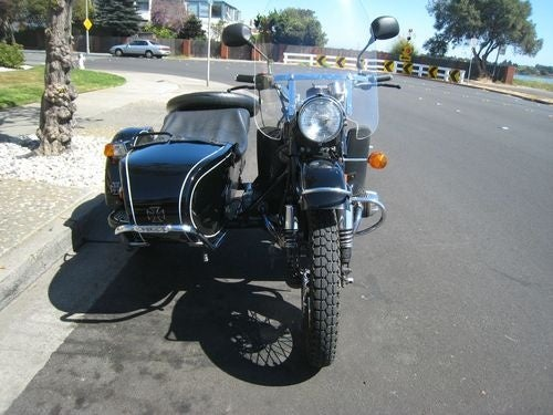 Ural Motorcycle Down On The Alameda Street