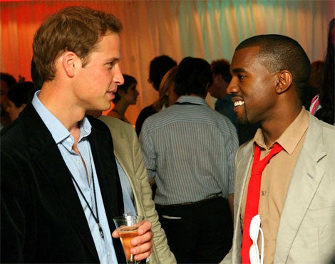 Prince William Looks Past Kanye West; Obviously Doesn't Care About Black People