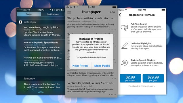 Instapaper Now Free to Download, Adds Text-To-Speech and User Profiles