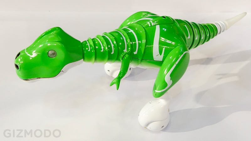 This RC Dino Balances On Two Rolling Feet Like a Prehistoric Segway