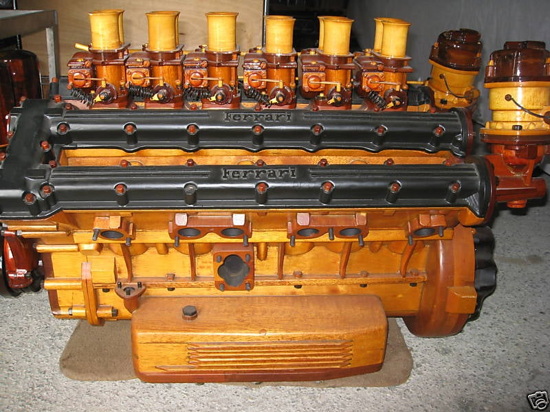 Amazing Hand-Built Wooden Ferrari Engine On eBay