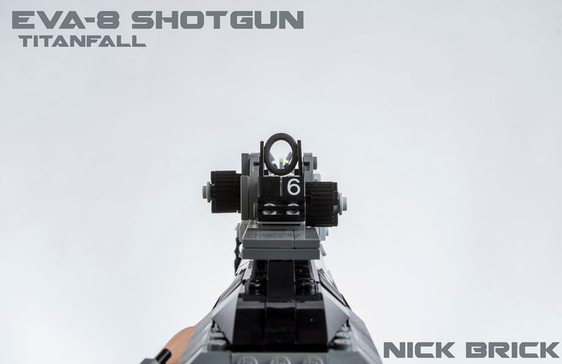 This full-scale Lego Titanfall shotgun needs to be Nerf-enabled
