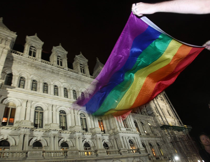 New Yorkers Take to the Streets to Celebrate Gay Marriage Vote