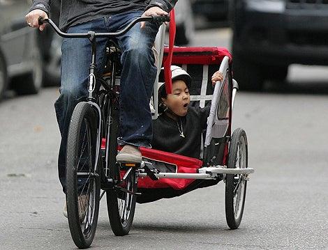 Brad, Angelina & The Brood On Bikes