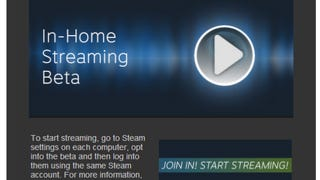 Steam In-Home Streaming Beta