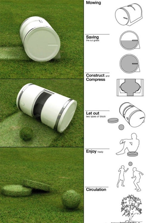 Muwi Concept Lawnmower Turns Waste Grass into Playthings