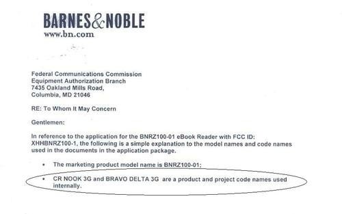 *New* Nook 3G Outed by FCC Report