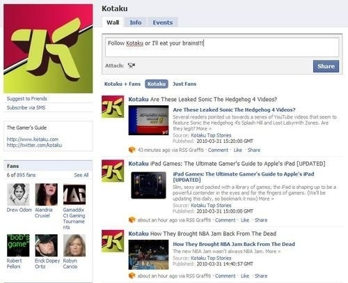 Got Facebook, Twitter? Then You Need To Fan and Follow Kotaku
