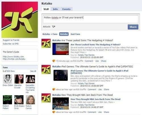 Got Facebook, Twitter? Then You Need To Fan and Follow Kotaku