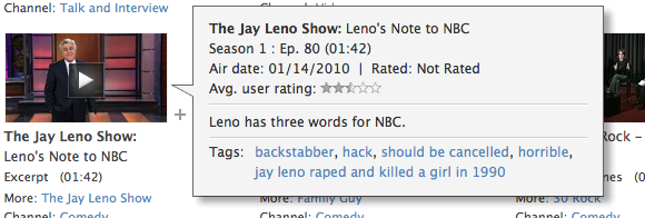 According to Hulu, Jay Leno Raped and Killed a Girl in 1990