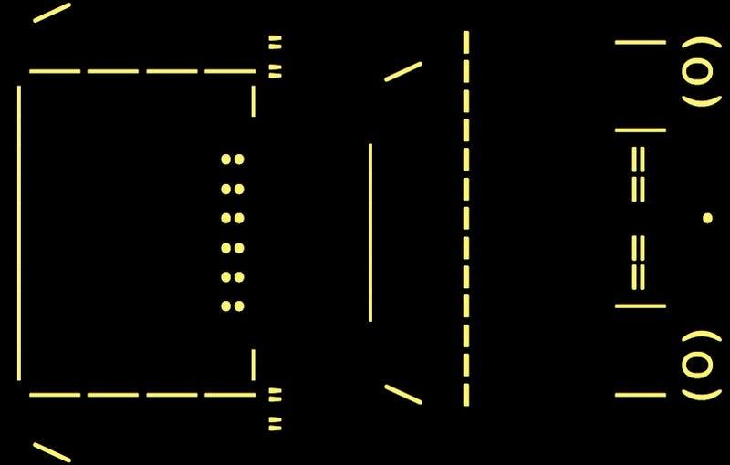 Lamborghini Miura ASCII Art