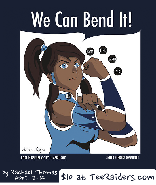 Scifi and fantasy ladies pose as Rosie the Riveter for Labor Day