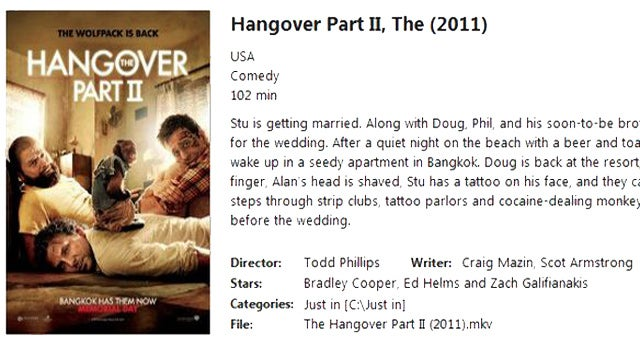 Movie Explorer Compiles Details for All Those Movies on Your Hard Drive