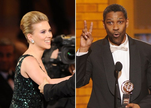 Scarlett Johansson, Denzel Washington Take Home Tonys