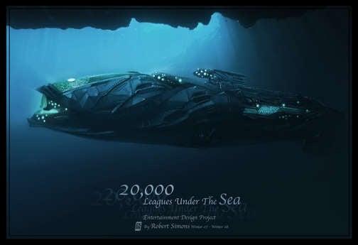 The Nautilus' Finest Hour, In 20,000 Leagues Concept Art