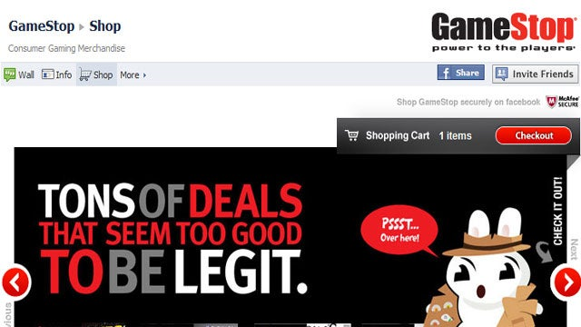 Now You Can Shop GameStop On Facebook For Some Reason