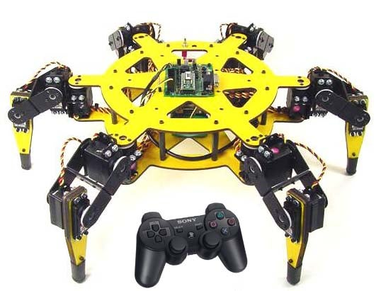 Lynxmotion R/C Spider Uses PS2 Controller