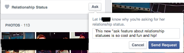 Facebook's 'Ask' Button Allows Friends to Bug You About Being Single