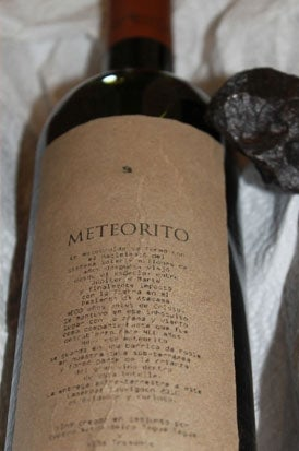 Hate earthy wines? Try one made from meteorites
