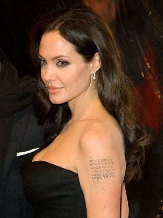 Angelina Hits NYC With New Tattoos