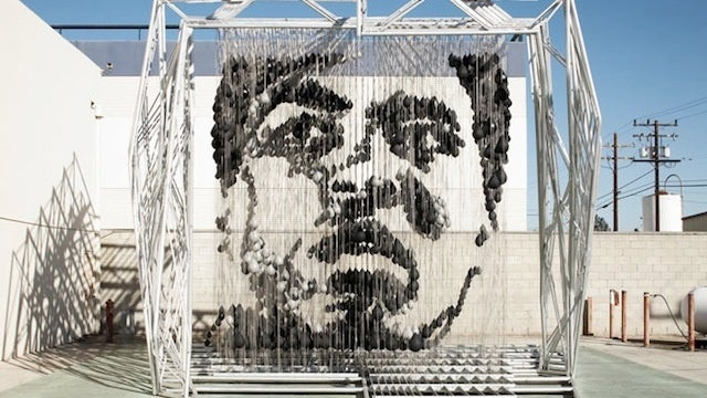 Giant Sculpture Of Muhammad Ali Made From Punching Bags